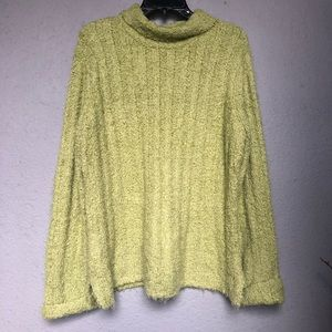 Columbia women's sweater in lime green. XL